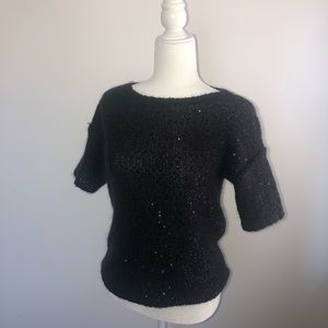 Ann Taylor Short Sleeve Sequin Sweater